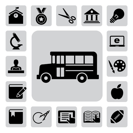 Education icons set. Illustration eps 10 Stock Vector - 18117277