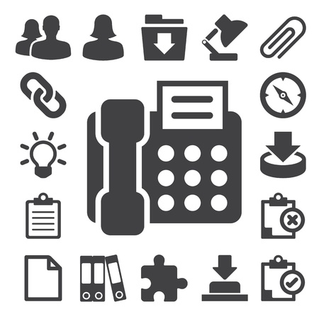 wright: Office icons set. Illustration