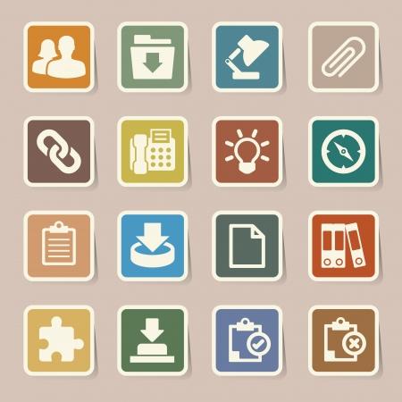 wright: Office  sticker icons set  Illustration