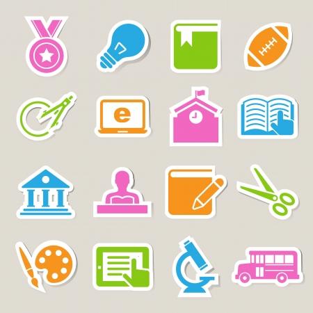 Education icons set. Illustration Vector