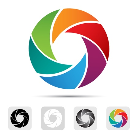 camera lens: Abstracte Achtergrond, ontwerp element Stockfoto