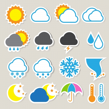 Icon set of weather ,Illustration eps 10 Vector