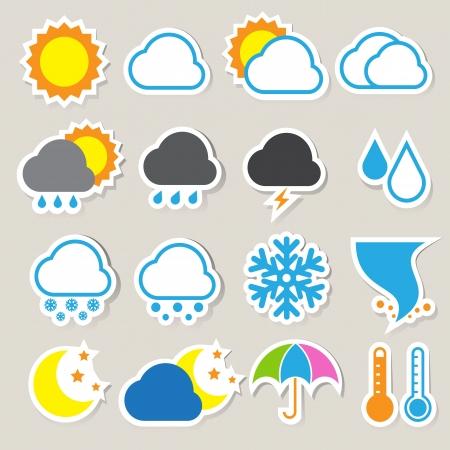 meteo: Set di icone del tempo, eps 10