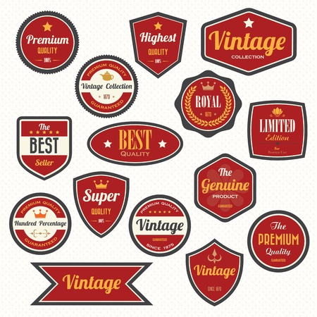 Set of  retro vintage badges and labels.eps10  Vector