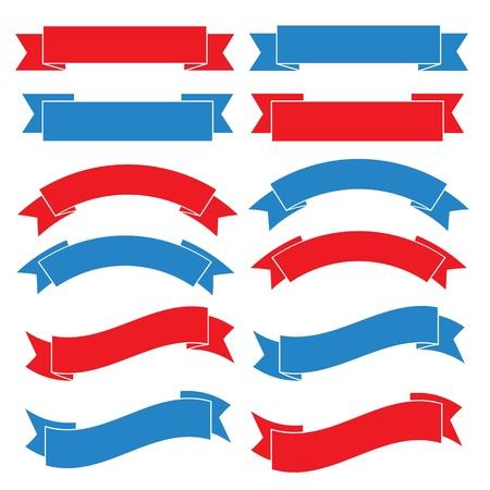 Set of old ribbon banner ,.Illustration