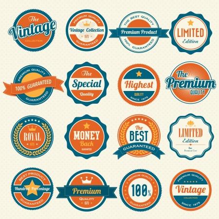 estampa: Juego de insignias retro vintage y de labels.eps10