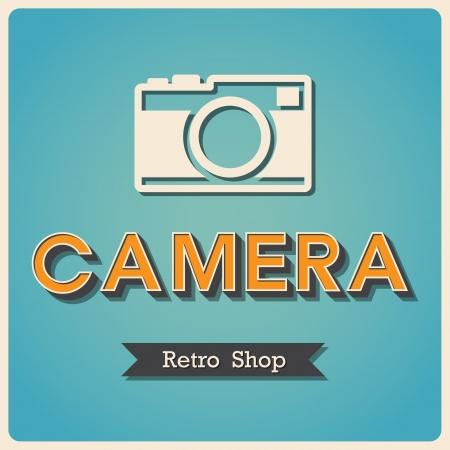 compact camera: Camera shop Retro poster