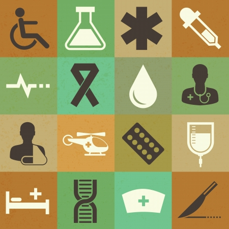 Medical sticker icons set, . Illustration eps 10 Stock Vector - 20151280