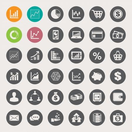 conection: Negocios y finanzas icono conjunto.