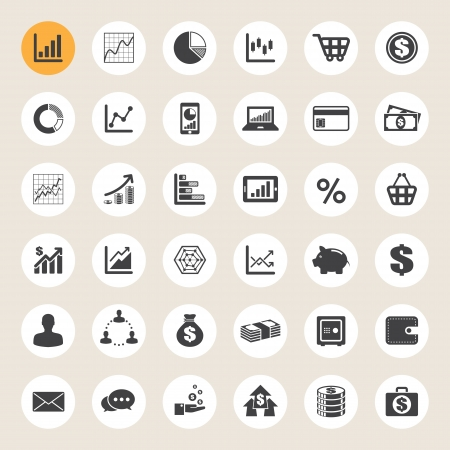 Business and finance icon set.Illustration eps10 Stock Vector - 20151282