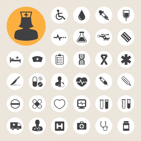Medical icons set, . Illustration eps 10 Stock Vector - 20151293