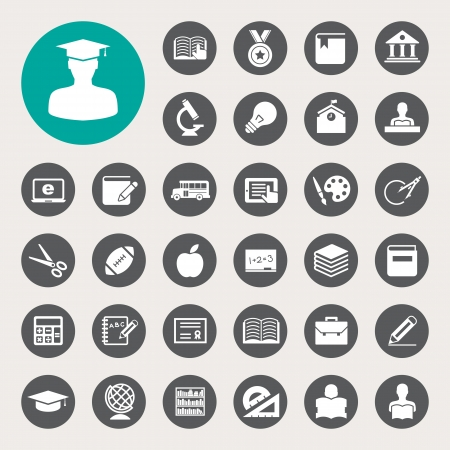 Education icons set. Illustration eps 10 Vector