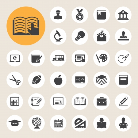 Education icons set. Illustration eps 10 Vector