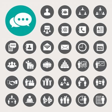 Zakelijke pictogrammen set. Illustratie Stock Illustratie