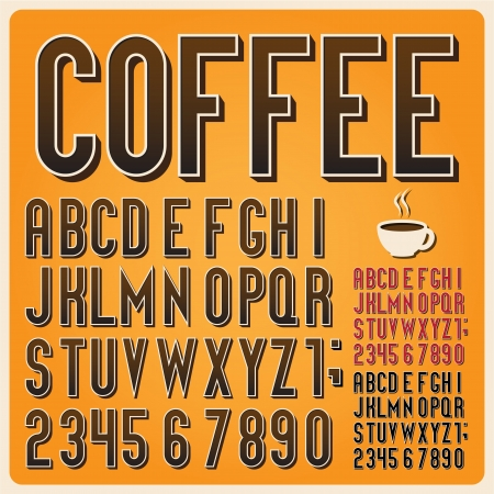 Retro type font, vintage typography ,Illustratiom  Vector