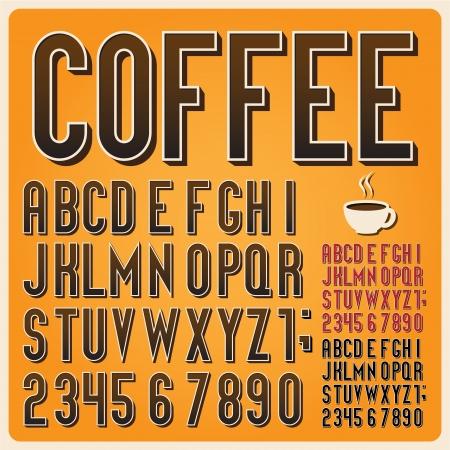 retro font: Retro type font, vintage typography ,Illustratiom  Illustration