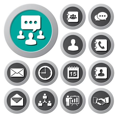 phonebook: Business icons set. Illustration  Illustration