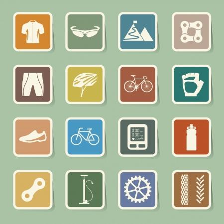 bicycle helmet: Bicycle icons set,illustration