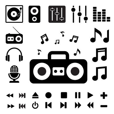 Music icon set. Illustration Stock Vector - 20880291