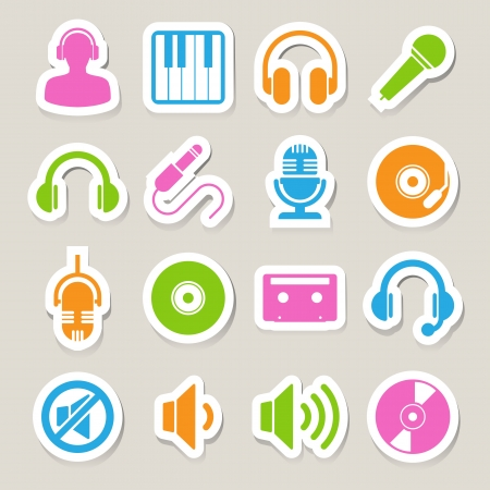 Music icon set. Illustration EPS10 Vector