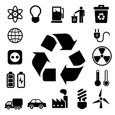 iconos energ�a: Iconos de la energ�a de Eco set.Illustration eps10