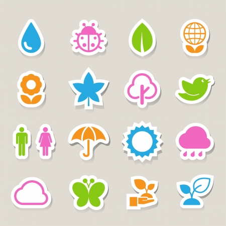 Eco icons set.Elements of this image furnished by NASA Vector