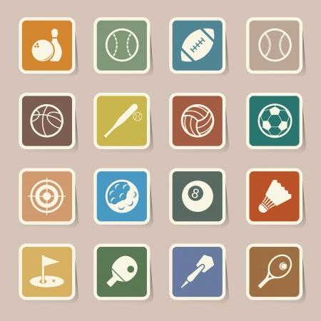 Sports Icons set.Illustration