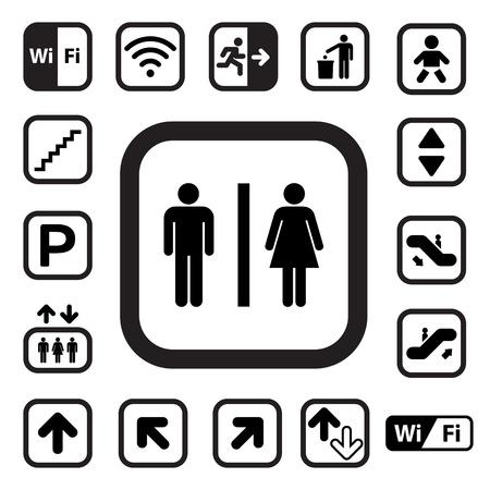 servicios publicos: Iconos P�blica set.Illustration
