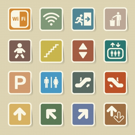 Public icons set.Illustration Vector