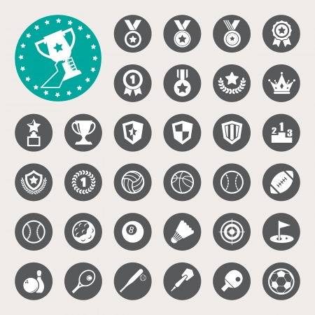 Sports Icons set. Illustration