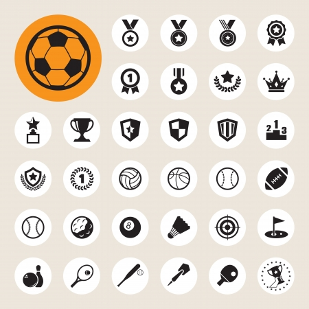 softball: Sports Icons set. Illustration