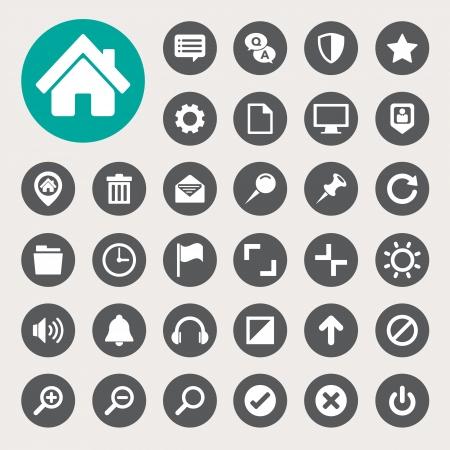 Computer menu icons set.