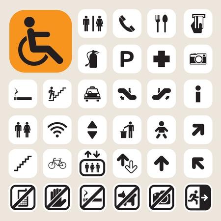 servicios publicos: Iconos Pública set.Illustration