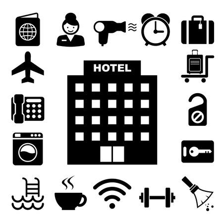 Hotel and travel icon set,Illustration