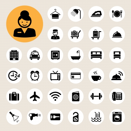 Hotel and travel icon set,Illustration Stock Vector - 22717653