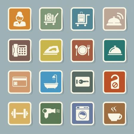 gym room: Hotel and travel icon set,Illustration