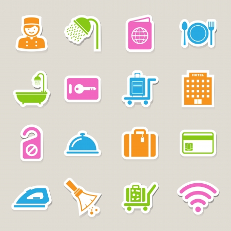 do not disturb: Hotel and travel icon set,Illustration