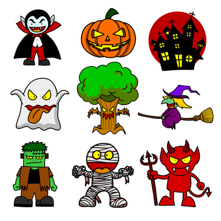 Halloween character  cartoon.Illustrator Illustration
