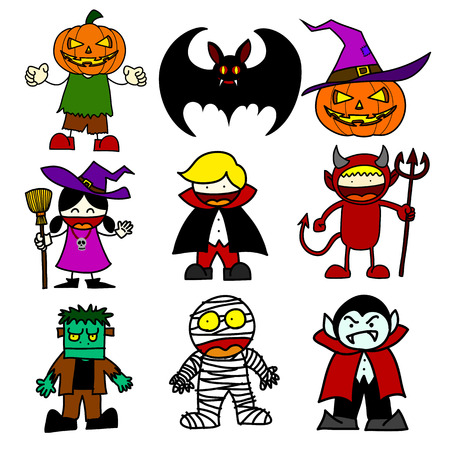 Halloween character  cartoon.Illustrator Vector