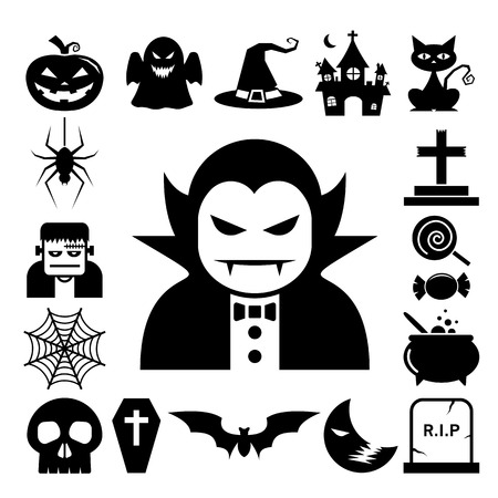Halloween icon set.Illustrator eps10 Vector