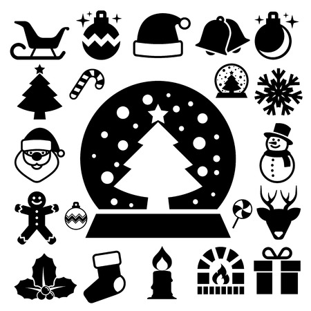 Christmas icon set.Illustration  Vector