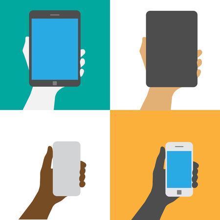 telefonok: Smartphone és Tablet. Ábra EPS10