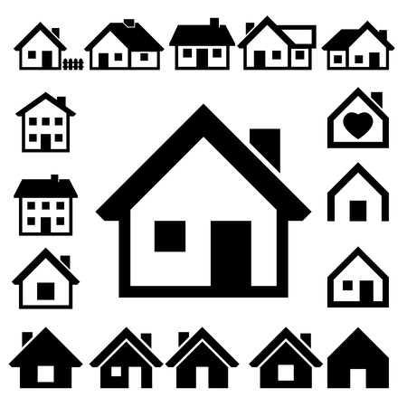 Houses icons set  Real estate Stock Vector - 23659751