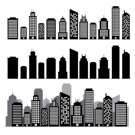 Building black and white icon Stock Vector - 23659755