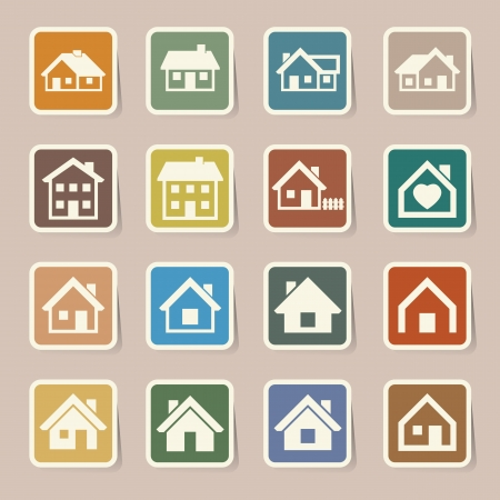 love my house: Houses icons set  Real estate