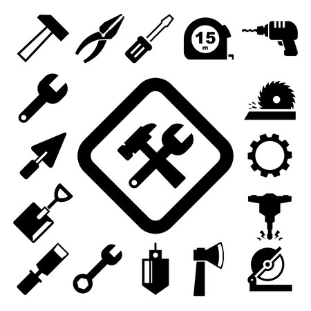 Construction Icons set.Illustration EPS10 Vector