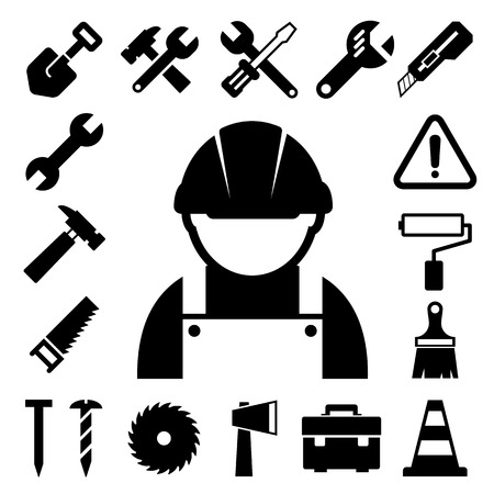 Construction Icons set. Stock Vector - 23840559