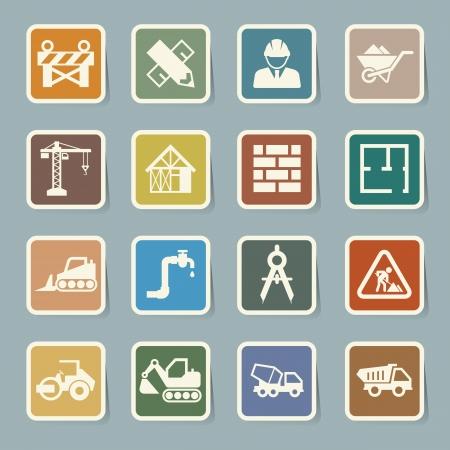 construction dozer: Construction Icons set.