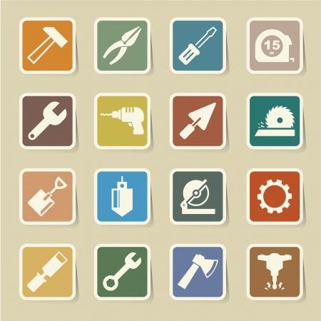 screw jack: Construction Icons set.