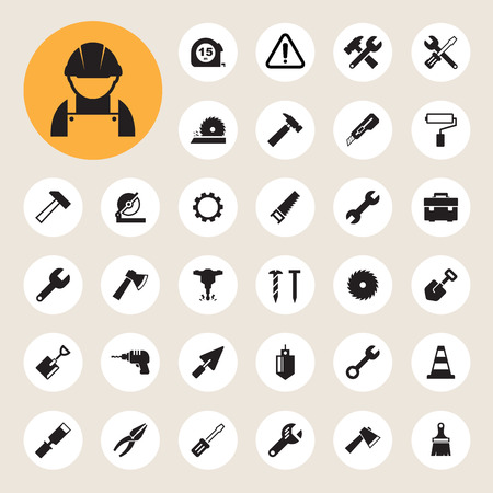 Construction Icons set. Vector